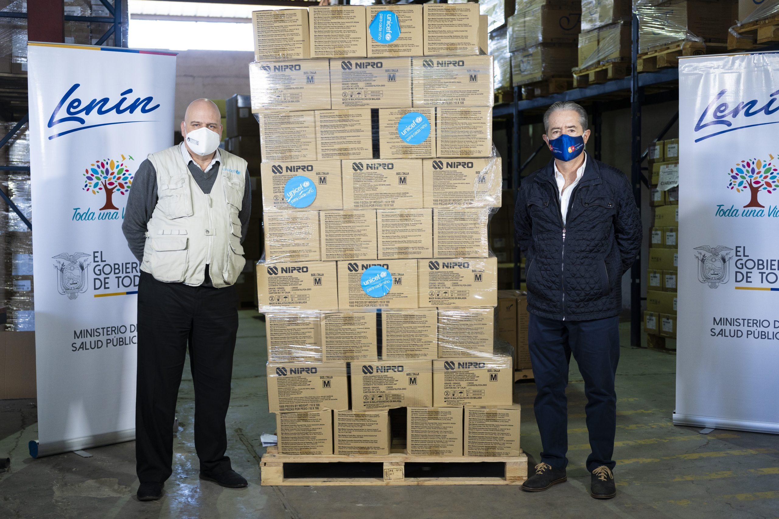 UNICEF entrega insumos médicos para apoyar a profesionales de salud y pacientes en la emergencia